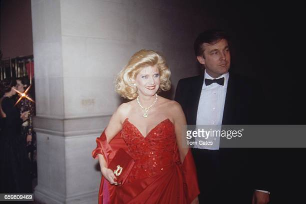 American real estate magnate Donald Trump with his first wife Ivana at the dance themed Costume Institute Gala held at the Metropolitan Museum of Art...