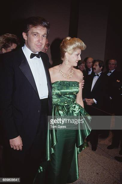 American real estate magnate Donald Trump with his first wife, Ivana at the annual dinner dance of the Costume Institute, held at the Metropolitan...