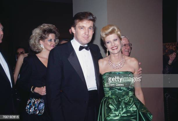 American real estate magnate Donald Trump with his first wife Ivana at the annual dinner dance of the Costume Institute held at the Metropolitan...