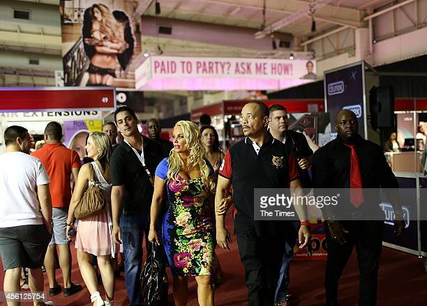 American reality rapper IceT and his wife Coco at the 2014 Sexpo at Gallagher Estate on September 25 2014 in Johannesburg South Africa IceT and his...