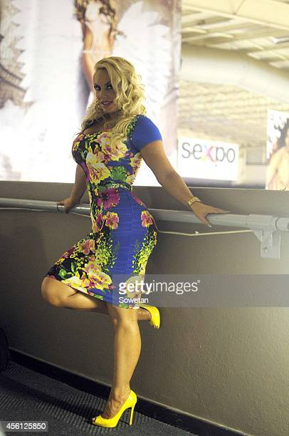 American reality TV star Coco during the Sexpo 2014 at Gallagher Estate on September 25 2014 in Johannesburg South Africa Coco is in the country with...