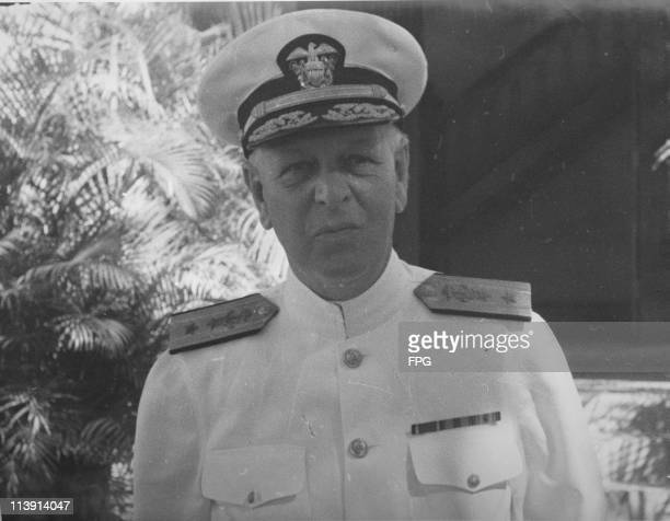 American Rear Admiral Husband E Kimmel circa 1940 Kimmel later served as Commanderinchief US Pacific Fleet at the time of the attack on Pearl Harbor