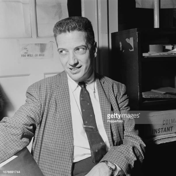 American record producer and jazz music critic John Hammond pictured in London in August 1961