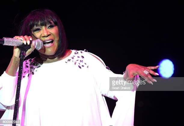 American recording artist Patti LaBelle performs during the launch of Pride Island hosted by Heritage of Pride as part of NYC LGBT Pride at Pier 26...