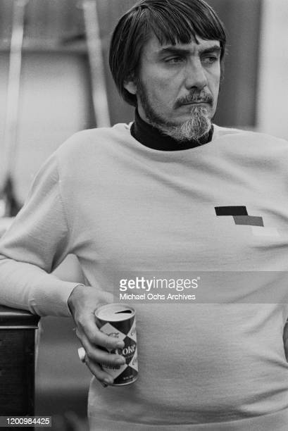 American recording engineer and producer Tom Dowd holding a can of Coke during a recording session of Aretha Franklin's studio album 'This Girl's in...
