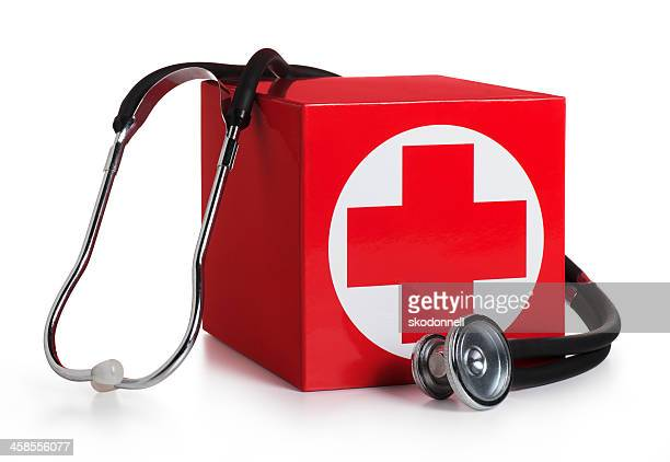 American Red Cross Box on White