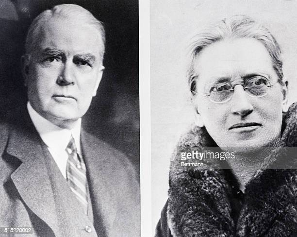 American religious leader John Raleigh Mott, Secretary General of the World Student Christian Federation, and American economist and sociologist...