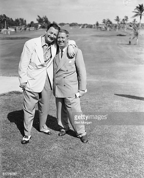 American restauranteur Toots Shor and American golf executive and promoter Fred Corcoran one of the founders of the Professional Golf Association and...