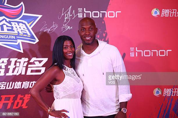 American retired professional basketball player Chauncey Billups poses at red carpet of the 2016 Super Penguin Basketball Hall of Fame game on...