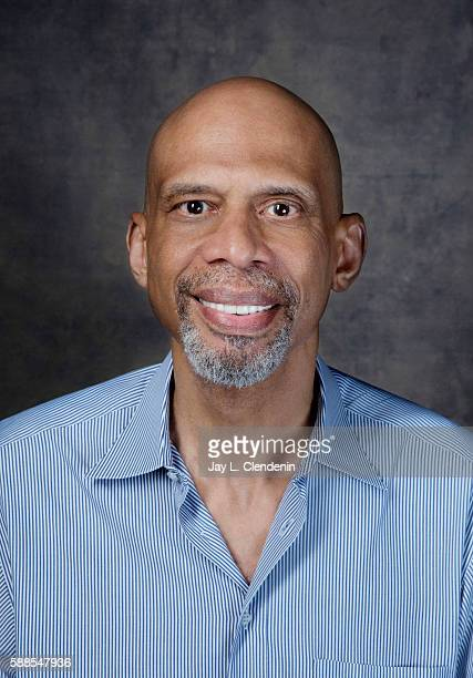 American retired professional basketball player Kareem Abdul Jabbar is photographed for Los Angeles Times at San Diego Comic Con on July 22 2016 in...
