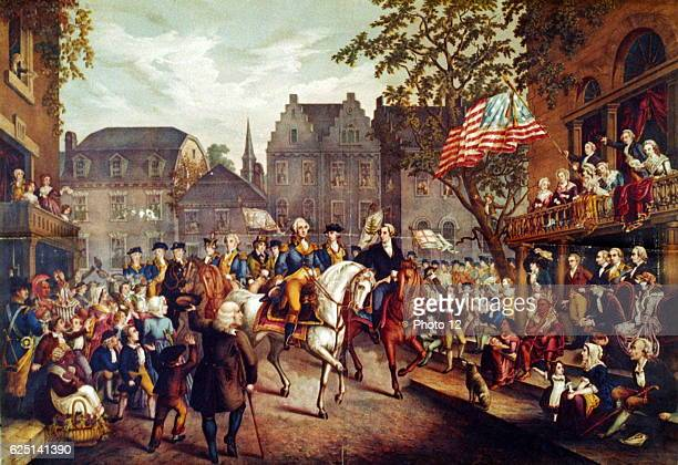American Revolutionary War 17751783 George Washington's triumphal entry into New York 25 November 1783