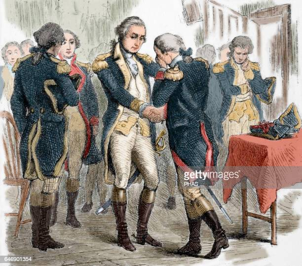 American Revolutionary War George Washington's farewell to his officers on December 4th 1783 to the resign as a Commanderin Chief of the Continental...