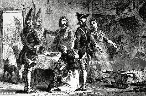 American Revolutionary War Hessian recruited as a soldier by the British military service while his family begs them not to recruit him They are most...