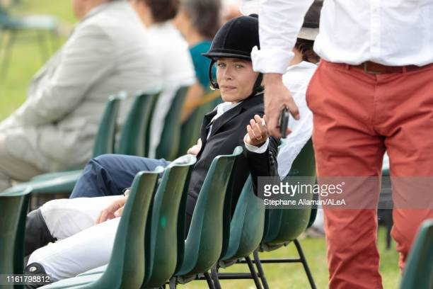 American rider Mary Kate Olsen is waiting her round during the Longines Global Champions Tour of Chantilly at Hippodrome de Chantilly on July 13 2019...