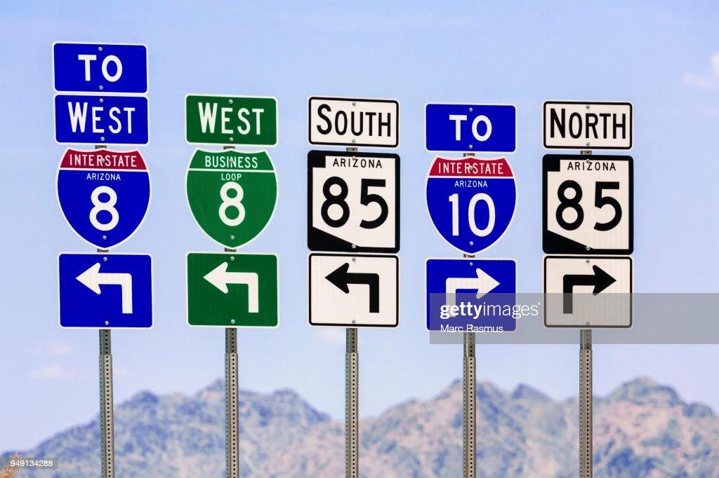 American Road Signs Arizona Usa Foto De Stock Getty Images