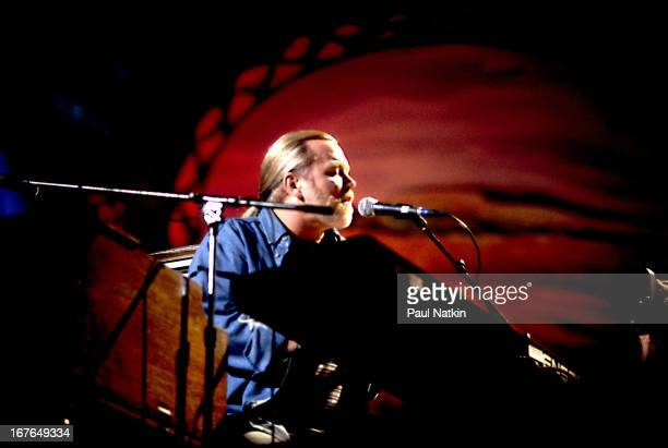 American rock and blues group The Allman Brothers Band perform onstage at the New World Music Theater Tinley Park Illinois October 4 1997 Pictured is...