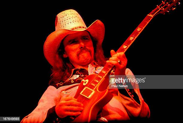 American rock and blues group The Allman Brothers Band perform onstage Chicago Illinois May 24 1979 Pictured is guitarist Dickey Betts
