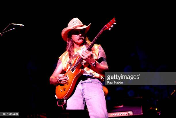 American rock and blues group The Allman Brothers Band perform onstage Chicago Illinois 1990s Pictured is guitarist Dickey Betts