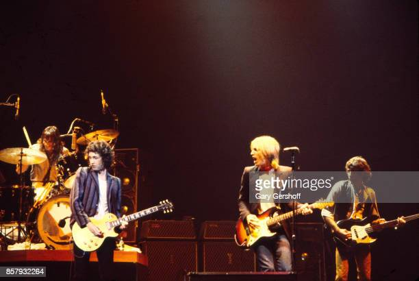 American Rock and Pop group Tom Petty and the Heartbreakers perform onstage during the 'Damn the Torpedoes' tour at the Palladium New York New York...