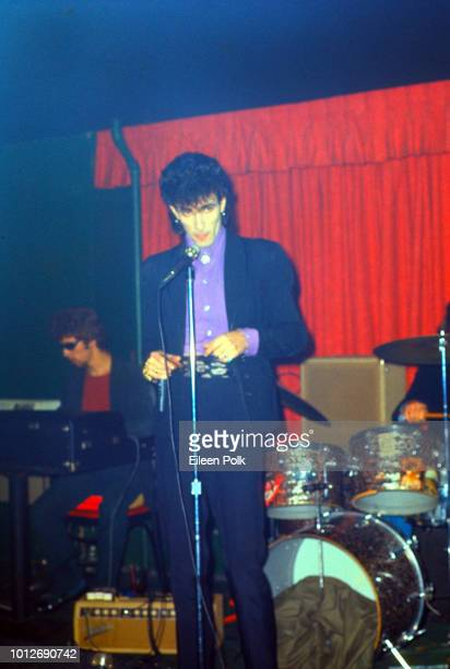 American Rock and RB musician Willy DeVille of the group Mink DeVille performs on stage at Max's Kansas City nightclub New York New York January 1976...