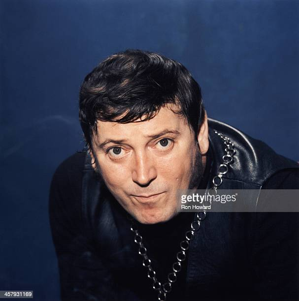 American rock and roll musician Gene Vincent posed in London circa 1970