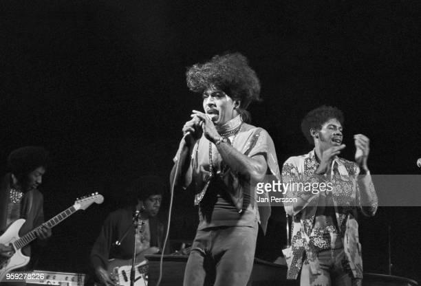 American rock and roll singer and pianist Little Richard performing in Copenhagen Denmark June 1975