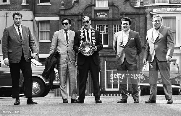 American rock and roll singer Bill Haley with his band The Comets in London shortly before their appearance at the Royal Albert Hall 28th April 1968