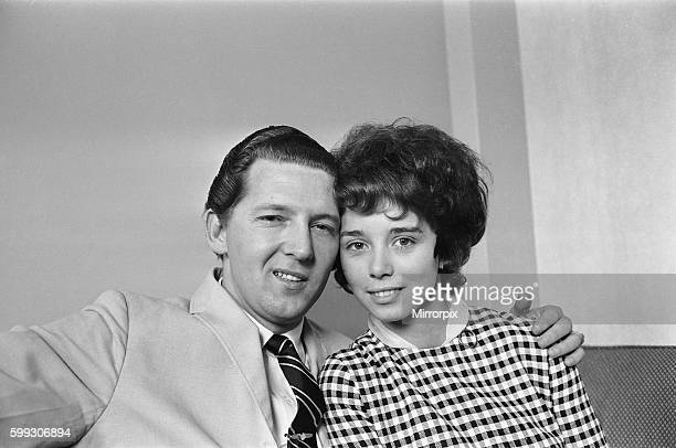 American rock and roll singer Jerry Lee Lewis with his third wife Myra who he married at age 13 photographed following his arrival in the UK 8th May...