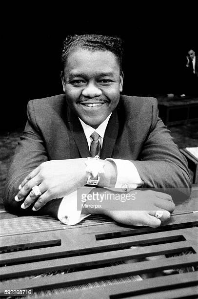 American rock and roll star Fats Domino at the piano on the stage of the Saville Theatre in London as he prepares for the evening show with gerry and...