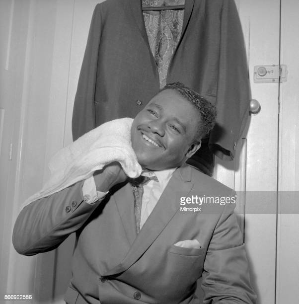 American rock and roll star Fats Domino in the dressing room after preparing for the evening show with Gerry and The Pacemakers at the Saville...