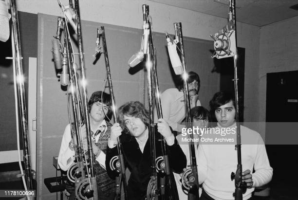 American rock band band Tommy James and the Shondells during a recording session for their track 'Crimson and Clover' 30th October 1968 From left to...