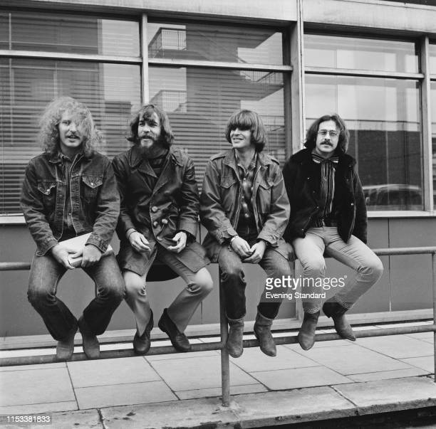 American rock band Creedence Clearwater Revival UK 7th April 1970 they are John Fogerty Tom Fogerty Stu Cook and Doug Clifford