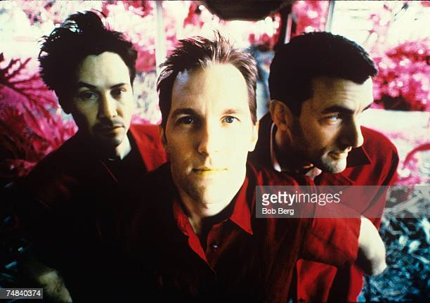 American rock band Dogstar bassist Keanu Reeves, drummer Robert Mailhouse and guitarist/vocalist Bret Domrose pose for a May 1999 portrait at the...