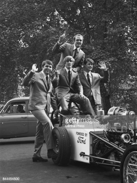 American rock band The Beach Boys in London to promote their new single 'When I Grow Up To Be a Man' 2nd November 1964 They are Mike Love Carl Dennis...