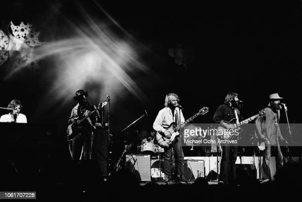 American rock band The Beach Boys perform at the last night at Fillmore East a nightclub on Second Avenue New York City before the closing of the...