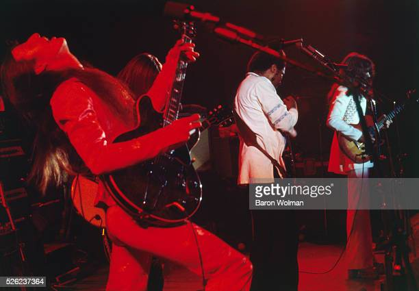 American rock band The Doobie Brothers on stage