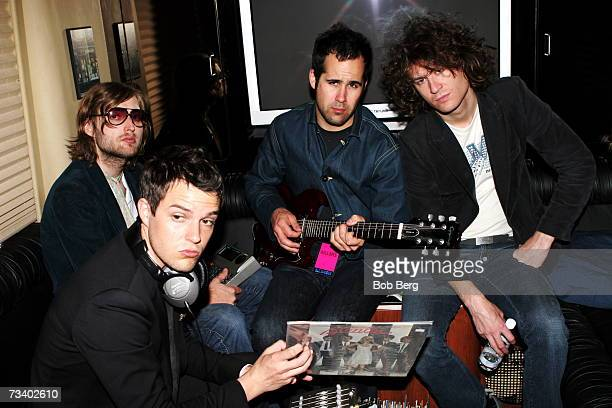 American rock band The Killers lead singer/keyboards Brandon Flowers bassist Mark Stoemer guitarist Dave Keuningand and drummer Ronnie Vannucci Jr...