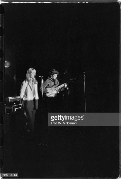 American rock band the Velvet Underground perform at the Filmmakers Cinematheque New York New York February 8 1966 Visble members are Germanborn...