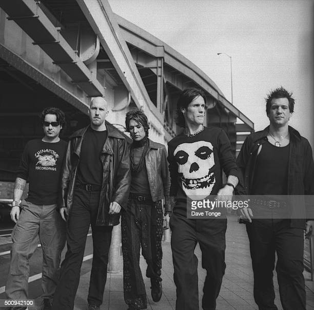 American rock group Buckcherry New York United States November 1999 Singer Josh Todd is second right