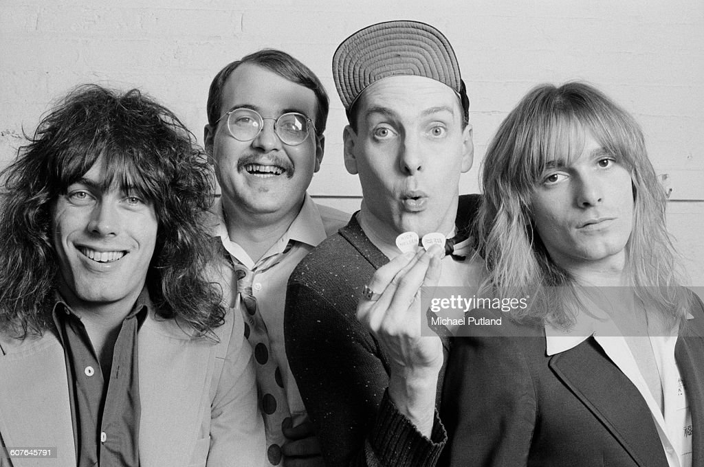 American rock group Cheap Trick, USA, 1977. Left to right: bassist Tom Petersson, drummer Bun E. Carlos, Guitarist Rick Nielsen and singer Robin Zander.