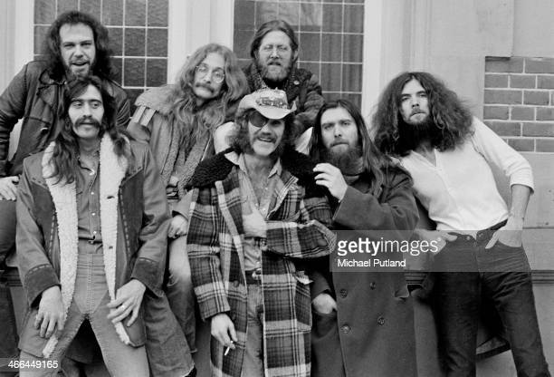 American rock group Dr Hook the Medicine Show Netherlands March 1974 Left to right John Wolters Billy Francis Rik Elswitt Ray Sawyer Jance Garfat...
