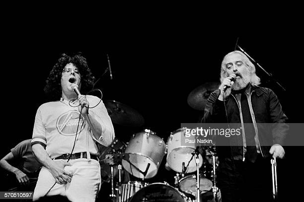 American Rock group Flo and Eddie Mark Volman and Howard Kaylan performs onstage at the Park West Chicago Illinois May 14 1983