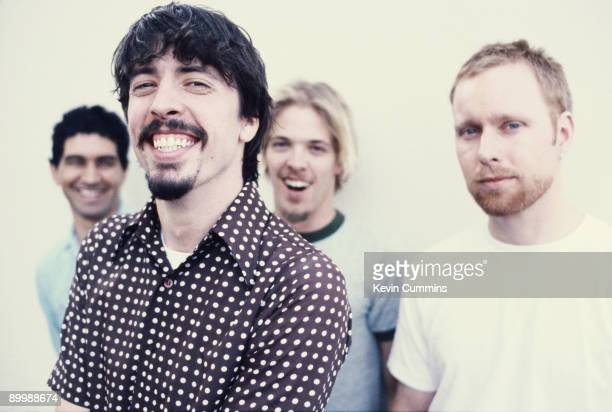 American rock group Foo Fighters 1997 Left to right guitarist Pat Smear singer Dave Grohl drummer Taylor Hawkins and bassist Nate Mendel