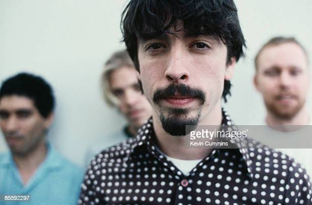 American rock group Foo Fighters with singer Dave Grohl and bassist Nate Mendel circa 1997