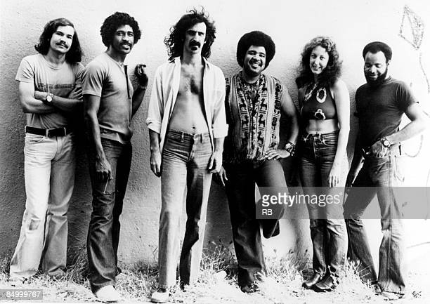 American rock group Frank Zappa and The Mothers of Invention circa 1974 Left to right bassist Tom Fowler saxophonist Napoleon Murphy Brock singer and...