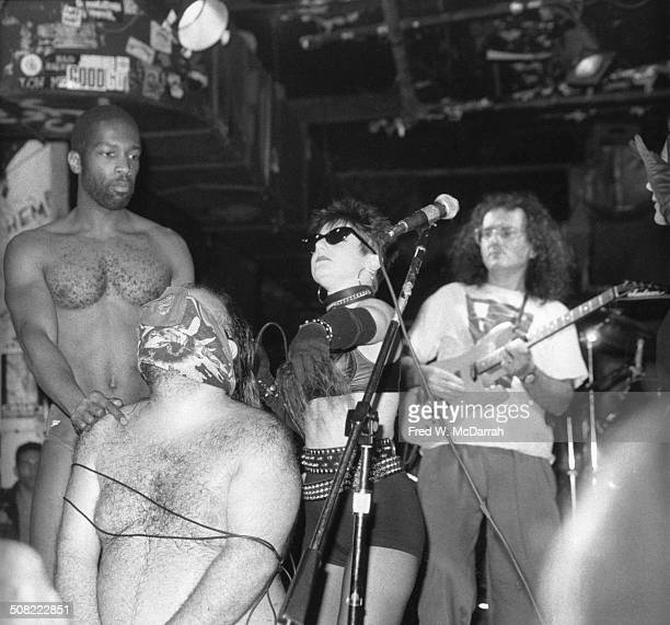 American rock group Frank's Museum performs onstage at the nightclub CBGB New York New York February 29 1992 Pictured are from left Steve Levant...