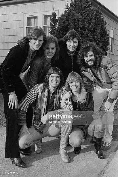 American rock group Heart Seattle USA 13th February 1978 Back left to right guitarist Roger Fisher guitarist Howard Leese singer and guitarist Ann...