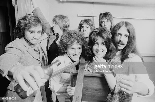 American rock group Jefferson Starship New York USA September 1978 Front left to right Marty Balin David Freiberg Grace Slick and Craig Chaquico Back...
