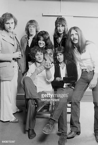American rock group Jefferson Starship New York USA September 1978 Standing left to right Marty Balin Paul Kantner Grace Slick John Barbata and Craig...