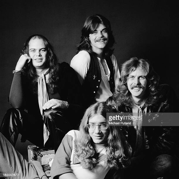 American rock group Jo Jo Gunne 12th October 1973 Clockwise from left Jimmie Randall Matt Andes Jay Ferguson and William 'Curly' Smith